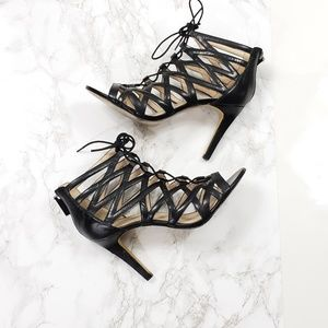 Nine West Authority Caged Gladiator Heel Sandals